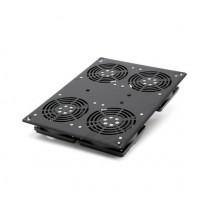 Блок вентиляторов для установки в  шкаф глубиной 800мм, черный